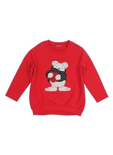 Karamela Sweatshirt Kırmızı